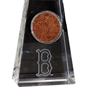 Boston Red Sox Tapered Crystal Paperweight with Boston 'B' Logo and Game Field Dirt from Fenway Park