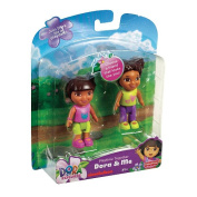 Fisher-Price Dora the Explorer Playdates Figure Pack - Dora and Brown Haired Friend