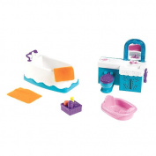 Fisher-Price Dora the Explorer Playtime Together Deluxe Dollhouse Furniture Set - Bathroom