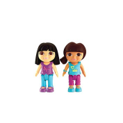 Fisher-Price Dora the Explorer Playdates Figure Pack - Dora and Black Haired Friend
