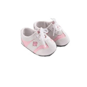 Lee Middleton Tennis Shoes for 48cm Baby Dolls - White and Pink