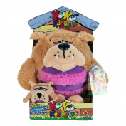 KooKoo Kennel Barking Plush Toy with Matching Mini KooKoo Puppy - Bull Doggy