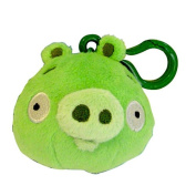 Mayflower 221865 Plush Angry Birds Backpack Clip On - Green