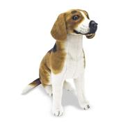 Melissa & Doug 4852 19 x 16 x 8 Beagle - Large Plush Dog Stuffed Animal