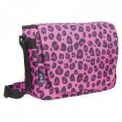 Wildkin Leopard Laptop Messenger Backpack - Pink