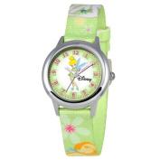 Disney Kid's Tinker Bell Stainless Steel Time Teacher Watch -Print