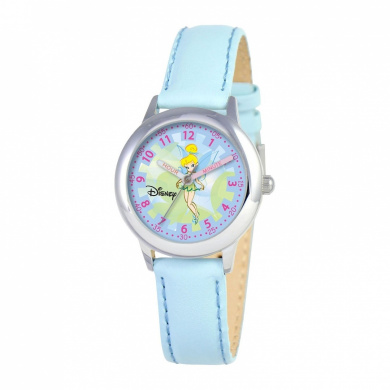 Disney Kid's Tinker Bell Stainless Steel Time Teacher Watch -Blue