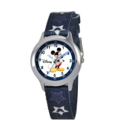 Disney Kid's Mickey Mouse Stainless Steel Time Teacher Watch - Print