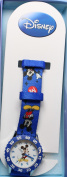 Disney Kid's Mickey Mouse Stainless Steel Time Teacher Watch - Blue