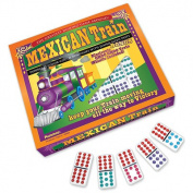 Mexican Train Double 12 Colour-Coded Dominoes