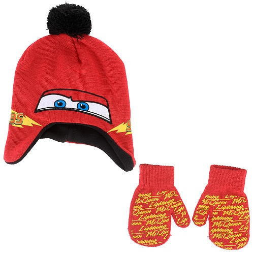 5770f64c1d1 Disney Pixar Cars Lightning McQueen Hat and Mitten Set - Gray by ...