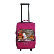 O3 O3LBPSET002 O3 Kids Luggage / Suitcase and Backpack Set With Integrated Cooler - Bling Rhinestone Peace