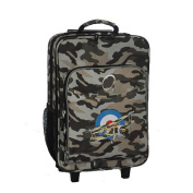 O3 Kids Luggage With Integrated Cooler - Camouflage Airplane