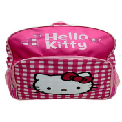 Hello Kitty Backpack - Pink and White Plaid