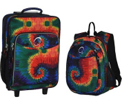 O3 O3LBPSET011 O3 Kids Luggage / Suitcase and Backpack Set With Integrated Cooler - Tie Dye