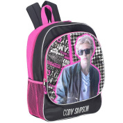 Cody Simpson 41cm I Love Cody Backpack - Black and Pink