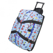 Wildkin 51079 Olive Kids Trains Planes and Truck Good Times Rolling Duffel Bag - Olive Kids