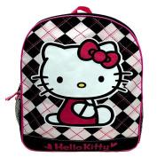 Hello Kitty Backpack - Black and White Argyle