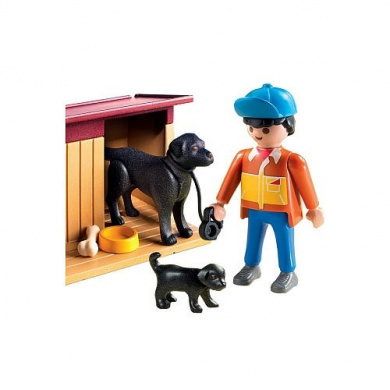 Playmobil 5125 Country Boy With Dog Family
