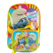 The Smurfs 41cm Backpack with Lunch Bag Set - Have a Smurfy Day
