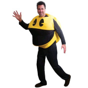 Pac- Man Deluxe Halloween Costume - Adult Standard One Size