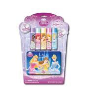 Disney Princess 5-Pack Lip Balm with Tin Case