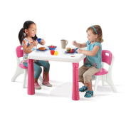 Step2 Lifestyle Kitchen Table and Chair Set - Pink
