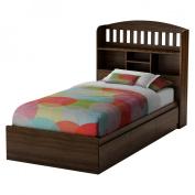 South Shore Sebastian Twin Mate's Bed - Mocha
