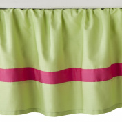 JoJo Designs Flower Collection Toddler Bed Skirt - Pink and Green