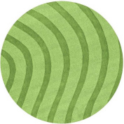 St Croix Trading Company Transitions Green Cut & Loop Waves 6x6 Round Area Rug