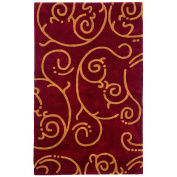 St Croix Trading Company Structure Burgundy Archer 4x6 Area Rug