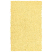 St Croix Trading Company Shagadelic Yellow Chenille Twist 30x50 Area Rug