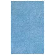 St Croix Trading Company Shagadelic Blue Chenille Twist 30x50 Area Rug