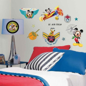 Roommates Mickey & Friends Clubhouse Pilot Peel & Stick Wall Decals