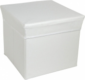Tadpoles Square Shaped Storage Box Stool - White
