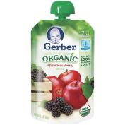 Gerber Organic 2nd Foods Pouch 100ml - Apple Blackberry