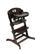 Badger Basket Evolve Convertible Wood High Chair with Tray and Cushion