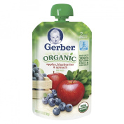 Gerber Organic 2nd Foods Pouch Apples, Blueberries & Spinach - 3.5 oz.