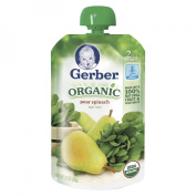 Gerber Organic 2nd Foods Pouch Pear Spinach - 3.5 oz.