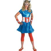 Captain America Girl Halloween Costume - Teen Size 7-9