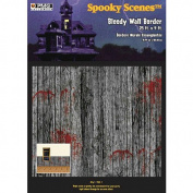 Halloween Spooky Scenes Bloody Wall Border - 7.6m