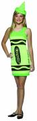 . Screaming Green Tank Dress Teen Halloween Costume - One Size