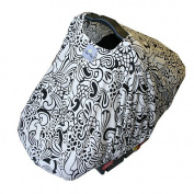 Itzy Ritzy Peek-A-Boo Infant Carrier Pod - Licorice Swirl