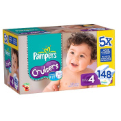 Pampers Cruisers Nappies Super Economy Size 4 - 148Ct