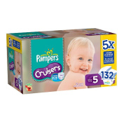 Pampers Cruisers Nappies Super Economy Size 5 - 132Ct