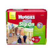 Huggies Little Movers Slip On Nappies Size 4 - 23Ct Jumbo Pack