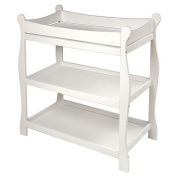Badger Basket 02211 White Sleigh Style Changing Table
