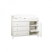 South Shore Cotton Candy Changing Table With Shelves - Pure White