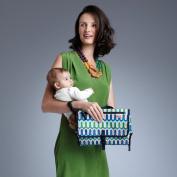 Skip Hop Pronto Baby Changing Station & Diaper Clutch Jonathan Adler Chevron Blue