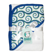 Blue My Mind Hooded Towel - White
